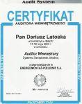 certyfikat auditora wewnętrznego